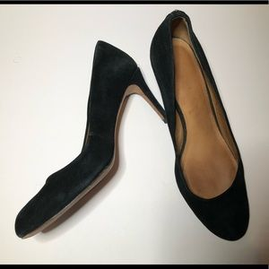 Coach Black Suede Round Toe Pumps shoes size 7.5